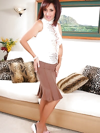 Cute mature whore brunette in amazing pantyhose