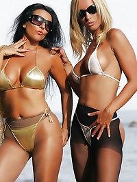 Vixens in bikinis and nylons
