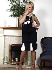 Katie Kay - Posh frock no panties!