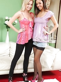 Hayley-Marie and Fifi tease each other out of their casual..