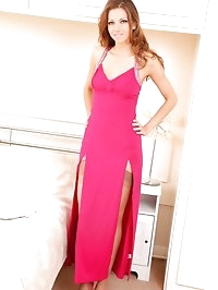 Leggy Eufrat in full length dress