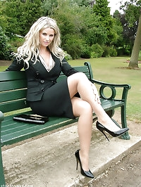 This gorgeous blonde cant get enough of wearing her heels..