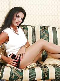 Pantyhose are her foreplay