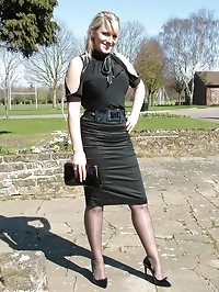 Gorgeous blonde Demi catches some sun out and about,..