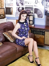 A nice striptease from a cool 60s retro dress and RHTs..