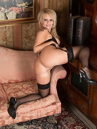 Lacy lingerie shows off UK mom Pammies big knockers, and..