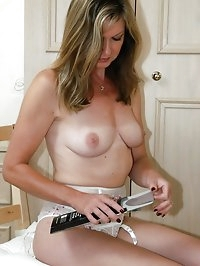 sexy milf gets dressed