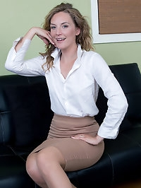 Beautiful Mona Wales sexy secretary