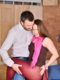 Stunning Olga Cabaeva takes her mans cock for a ride