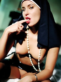 Sexy nuns in black stockings that love to get down and nasty
