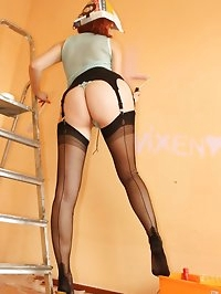 decorating in sexy nylons