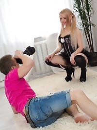 Angels photoshoot turns into an anal adventure