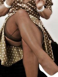 Vixen dazzles in sexy lingerie