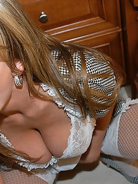 Kelly the horny housewife sucks her husbands cock.