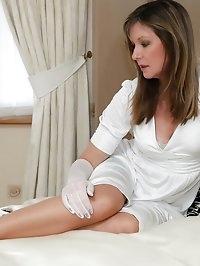 sexy lingerie nylon milf