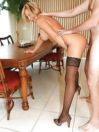 Hot Busty Milf Wife in Lingerie Getting Fucked