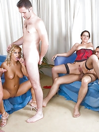 British young sluts fuck 3 guys and 2 dildos