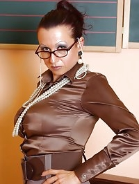 clothed sex fetish lesson of a sexy milf teacher