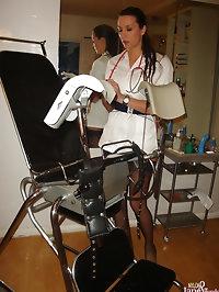 Nurse Jane looking sexy in uniform posing