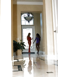 Kelly Madison and Diamond Jackson play nice and share a..