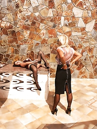Lady Astrid punishes maid for masturbating