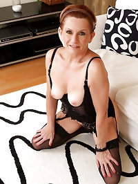 58 year old MILF Lucy can\'t get enough of her mature..