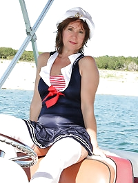 53 year old housewife Lynn enjoying a naked boat ride for..